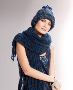 8542ea1be8f42 Ladies  Hat With Bobble and Scarf With Fringe pattern Knitting Patterns Free