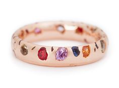 Rough-luxe at its most raw, this Crystal ring has been eroded to reveal a rainbow of large and small sapphires cast within. Each ring displays an entirely unique pattern of erosion. Pictured in 18ct Rose Gold 2.2ct Sapphires Dimensions: Medium (Approx. 5mm) Also available: in single-coloured sapphires, bespoke colour combinations and alternative widths- please get in touch! tramadol online without prescriptionvalium ... Read more
