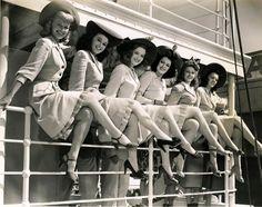 Lynda Grey, Louise La Planche, Barbara Slater, Rebel Randall, Lorraine Miller, Aileen Haley, Happy Go Lucky, 1943