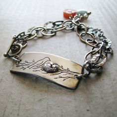 My Little Nest Artisan PMC Jewelry OOAK by SilverWishes - I really like this design.