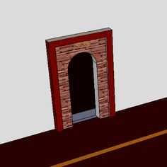 My own design for mihrab using wood and field stone