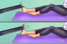Here are six exercises to get rid of knee and foot pain forever - Tips and Tricks - Tips and Crafts Hip Pain, Foot Pain, Knee Pain, Get Rid Of Bunions, Body Joints, Knee Exercises, Sore Feet, Thigh Muscles, Leiden