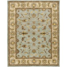 Safavieh Handmade Heritage Timeless Traditional Light Blue/ Beige Wool Rug (9'6 x 13'6)