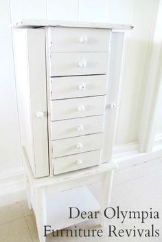 *For Sale in Oahu* Antique Jewelry Armoire/Chest | Shabby Chic | Furniture Refinish | cottage chic