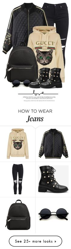 """Casual"" by monmondefou on Polyvore featuring AMIRI, Gucci and MANGO"