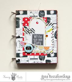 Mini Album by Anna Kossakovskaya using the Me-ology collection by FancyPantsDesigns.com and chipboard album by Want2Scrap.com