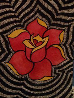 Zentangle rose