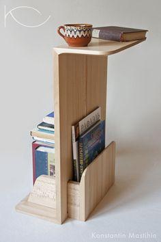 """Мебель ручной работы. Ярмарка Мастеров - ручная работа Столик """"Читальный"""" из массива бука. Кофейный столик. Стеллаж для книг.. Handmade."""