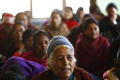 Women attending a literacy class in #Nepal. Photos via The Guardian.