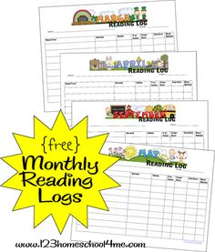 123 Homeschool 4 Me has a free printable for you to help you promote reading in your homeschool. These FREE