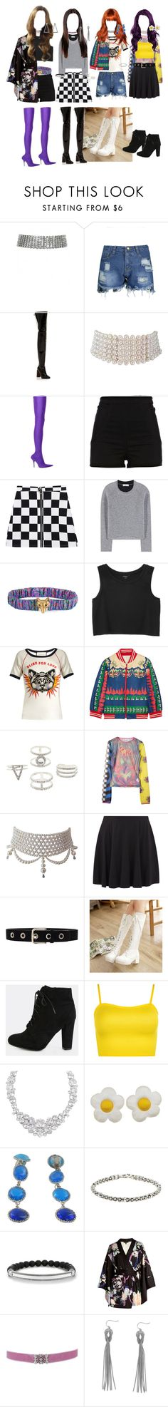"""BLACKPINK AS IF IT'S YOUR LAST OUTFITS"" by sbello ❤ liked on Polyvore featuring E L L E R Y, Marina J., Balenciaga, River Island, Gucci, Monki, Anna Sui, Charlotte Russe, New Look and Lovers + Friends"