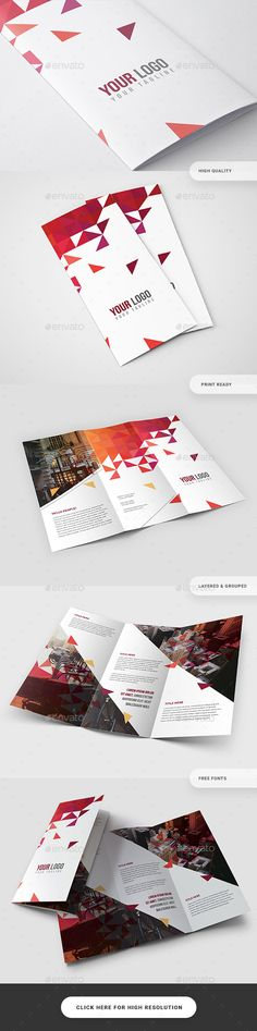 Creative Trifold #Brochure #Template - Catalogs Brochures Download here: https://graphicriver.net/item/creative-trifold-brochure-template/19405719?ref=alena994