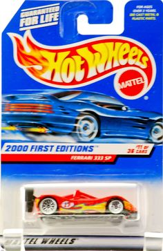 Hot Wheels 2000: First Editions : Ferrari 333 SP 1/64 scale (11 of 36 Collector 071) -- This is an Amazon Affiliate link. Check out this great product.