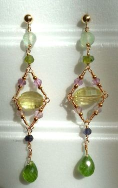 Semiprecious gems, excelent quality in Gold Filled