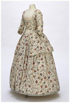 American Duchess: Costume Analytics: 1770-80 Chintz Caraco & Petticoat