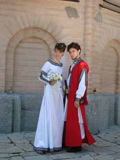 Mittelalter Herrenmantel aus Leinen