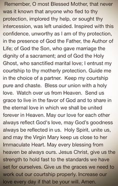 Prayer for dating couples catholic
