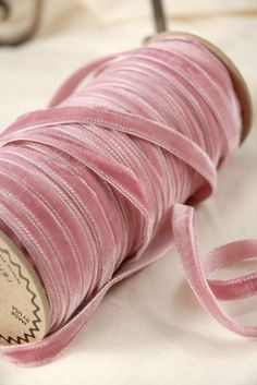 yards of Austrian victorian rose pink velvet ribbon.with yards of Austrian victorian rose pink velvet ribbon