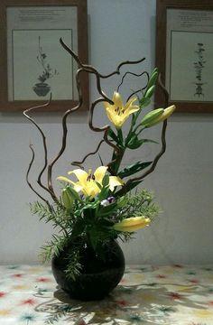 Ikebanas na decoração!