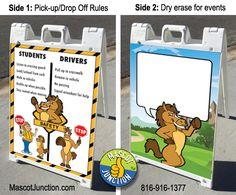 Bronco Mascot Signicade Sidewalk Sign PBIS