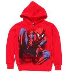 Spiderman Webslinging Boys Hoodie Boys Hoodies, Sweatshirts, Spiderman Hoodie, Graphic Sweatshirt, Sweaters, How To Wear, Fashion, Moda, Fashion Styles