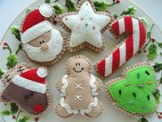 Ginger Felt Christmas Ornaments Felt by GingerSweetCrafts, $26.99