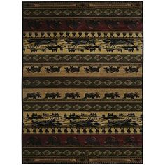 """Sale Price : $98.99  Order it Here=> https://diamondhomeusa.com/products/311x53-beige-brown-red-bear-reindeers-printed-accent-rug-indoor-outdoor-animal-pattern-living-room-rectangle-carpet-southwest-cabin-themed-synthetic-hunting-wild-nature-lodge-cottage?utm_campaign=outfy_sm_1510032750_671&utm_medium=socialmedia_post&utm_source=pinterest   3'11""""x5'3"""" Beige Brown Red Bear Reindeers Printed Accent Rug Indoor Outdoor Animal Pattern Living Room Rectangle Carpet Southwest Cabin Themed   Shop…"""