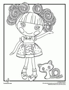 FREE printable lalaloopsy coloring pages...plus this web site has  cartoon network, nickelodeon, disney pages too!