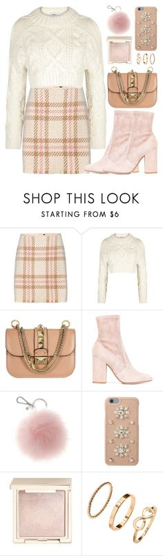 """Softly Look"" by monmondefou ❤ liked on Polyvore featuring MARC CAIN, DKNY, Valentino, MICHAEL Michael Kors, Jouer, H&M, Pink and beige"