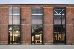 Converted industrial 'Re-Veil' Factory Regeneration / Superimpose Architecture Architecture Renovation, Factory Architecture, China Architecture, Brick Architecture, Industrial Architecture, Commercial Architecture, Drawing Architecture, Architecture Portfolio, Metal Facade