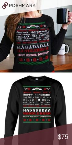 c834c76c Friends TV Show Vintage Christmas Sweater NWT Friends tv show Christmas  sweater - Phoebe's Christmas song sweatshirt. Are you a massive F.S fan?