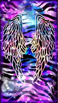 By Artist Unk nown. Cocoppa Wallpaper, Cute Wallpaper Backgrounds, Pretty Wallpapers, Cellphone Wallpaper, Cool Wallpaper, Wings Wallpaper, Screen Wallpaper, Rainbow Wallpaper, Galaxy Wallpaper