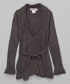 Loving this Heather Gray Belted Duster - Infant, Toddler & Girls on #zulily! #zulilyfinds