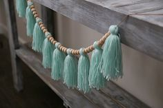 Items similar to Yarn Tassel and Bead Garland – The Bella: Yarn Tassel Garland, Beaded Garland, Yarn Tassels, Girls Room Decor, Nursery Decor on Etsy – Diy Garland 2020 Diy Tassel Garland, Wood Bead Garland, Beaded Garland, Tassels, Pom Pom Crafts, Yarn Crafts, Easy Dorm Crafts, Diy Girlande, Yarn Wall Hanging