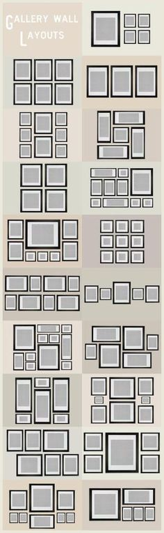 Gallery Wall Layout Ideas | These Diagrams Are Everything You Need To Decorate Your Home by lorrie