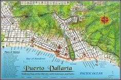 Mapa Jeff Cartography: Puerto Vallarta Walking Map 2015