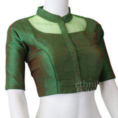 Plain semi silk blouse with cotton lining etsy. Choli Blouse Design, Saree Blouse Neck Designs, Stylish Blouse Design, Fancy Blouse Designs, Kurta Designs, Designer Blouse Patterns, Etsy, Sarees, Cotton