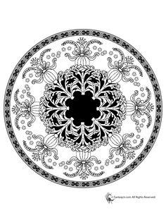 Mandala Coloring Pages for Kids & Adults Floral Mandala Coloring Page – Fantasy Jr.
