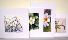 Floral Watercolor Cards Best Gift for Mom 4 Assorted Watercolor Cards, Watercolor Flowers, Watercolour, Angel Artwork, Birthday Cards For Him, Gifts For Art Lovers, Beautiful Handmade Cards, Get Well Cards, Spring Flowers