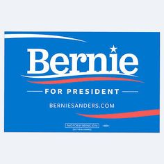 Bernie Sanders: Brand New Crisp Condition Bernie Sanders 2016 Campaign Rally Sign! Free Shipping BUY IT NOW ONLY: $14.0