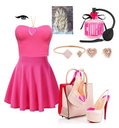 """""""Pink"""" by kivericdamira ❤ liked on Polyvore featuring Christian Louboutin, Michael Kors and Victoria's Secret"""