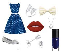 """Blue"" by abigaelf on Polyvore featuring mode, Funtasma, Pandora, Amanda Rose Collection, Lime Crime et Lancôme"