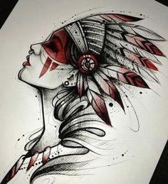 ozilook # tattoo # smalltattoo # tattoooforwomen # minimalisttattoos - #ozilooktattoosmalltattootattooforwomenminimalisttattoos #tattooforwomen #backtattoos Red Indian Tattoo, Native Indian Tattoos, Indian Girl Tattoos, Girl Back Tattoos, Lower Back Tattoos, Tattoo Sketches, Tattoo Drawings, Drawing Sketches, Warrior Tattoos