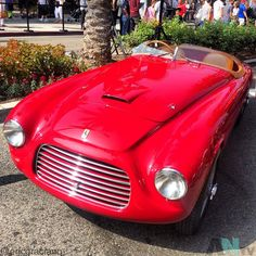 After the very early 166 Spyder Corsa, which used a cycle-fendered bodywork, Carrozzeria Touring designed a small, taut streamlined body for the 166 chassis. This car was dubbed the 'Barchetta' ('little boat'). Tommy Lee, a wealthy West Coast automotive enthusiast who had owned a number of exotic European cars, ordered this Barchetta, which had been shown at the 1948 Turin Auto Show. This was the first Ferrari in the United States