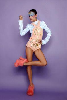 Ana Ljubinković (pronunciation Lyoubinkovich) is a womenswear designer and artist based in Belgrade, Serbia. Unisex Hair Salon, Royal Colors, Faux Fur Boots, Star Children, Belgrade, Strike A Pose, Pink Ladies, Women Wear, Stripes