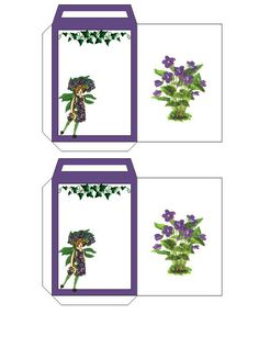 Floral Envelope Template(seed packet)>>this link also gives the ...