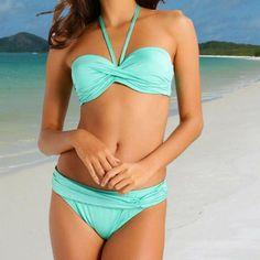 @sales3214 posted to Instagram: LASCANA Bandeau 5 Way Bikini - Mint - 12 to 18 - B to D Cup #swimwear # #swimsuit #beachwear #swimming #swim #bikinis #pool #beachstyle #beachgirl #swimmingpool Bandeau Bikini, Bikini Tops, Swimsuits, Bikinis, Swimwear, Push Up Bikini, Black White Stripes, Bikini Fashion, Bikini Colors