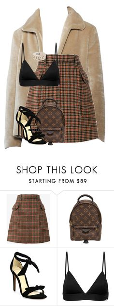 """Untitled #482"" by nyashaa ❤ liked on Polyvore featuring Prada, Louis Vuitton, Alexandre Birman, Vyayama and Gucci"