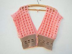 Diy Crafts - Trevi Top Crochet pattern by Nomad Stitches Bikini Crochet, Crochet Crop Top, Crochet Blouse, Knit Crochet, Christmas Knitting Patterns, Crochet Patterns, Crochet Hippie, Crochet Jumpsuits, Crochet Capas