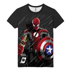Another cool link is PrettyBoyNews.com  awesome T-shirt Super hero spider-man All Avengers Armors…